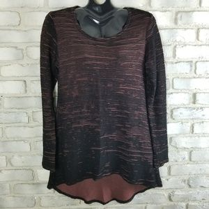 Cut Loose Top XS Black Salmon Lagenlook Tun